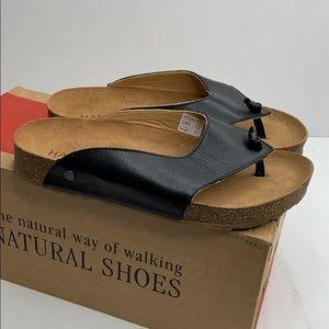 Haflinger black leather sandals size 36 like new